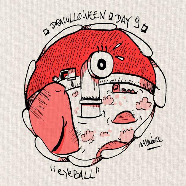 Drawlloween #09 - Eyeball oeil periscope