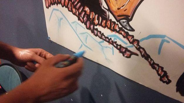 Fresque The Thing à la soirée Carpenter 07