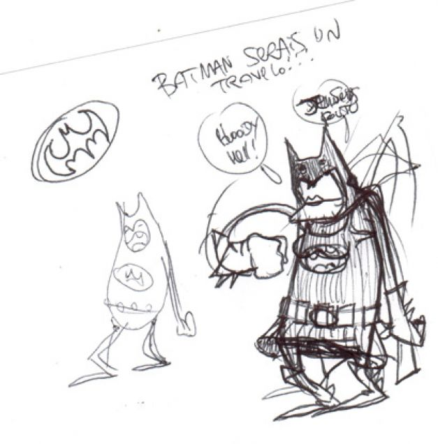 Batman travelo croquis