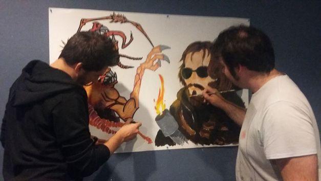 Fresque The Thing à la soirée Carpenter 04