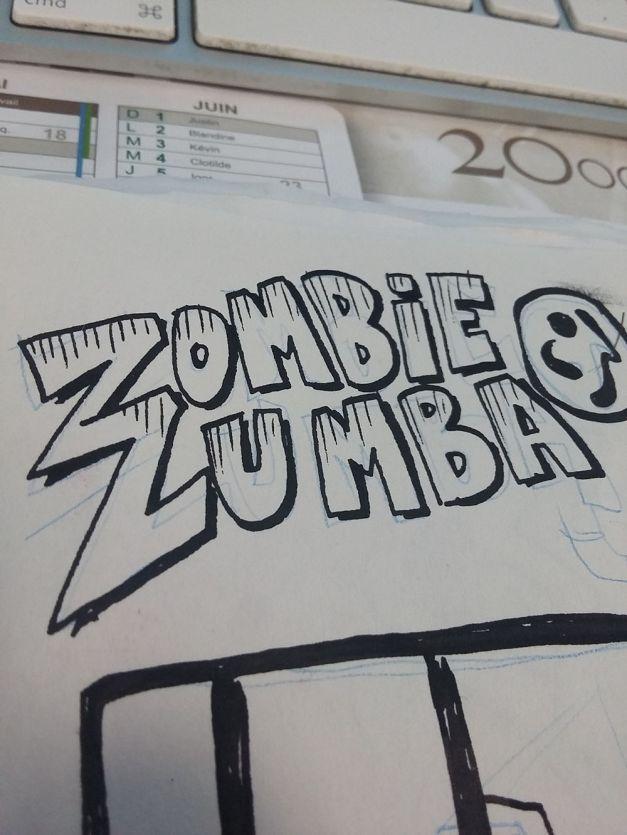 Zombie zumbla wip croquis encrage 02